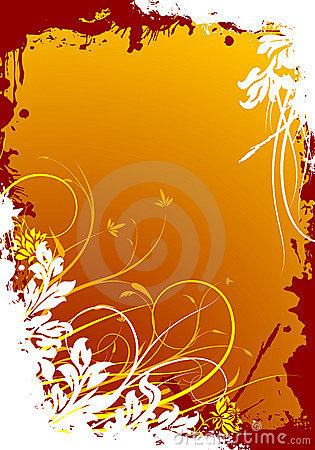 Free Abstract Grunge Floral Decorative Background Vector Illustration Royalty Free Stock Photo - 2040725