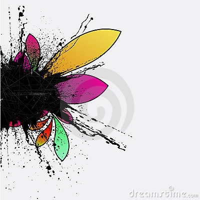 Abstract grunge flower background design