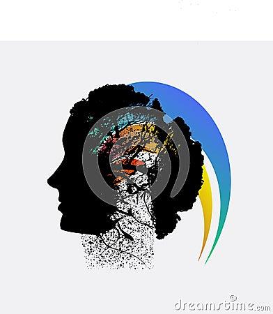Abstract grunge flower background design