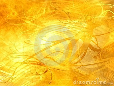 Abstract grunge golden background