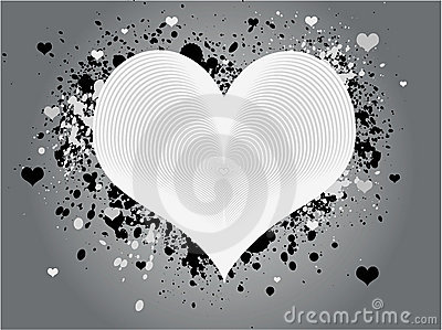 Abstract Grunge Heart Design