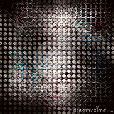 Abstract grunge iron surface with circles