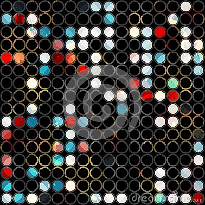 Abstract grunge light circle seamless