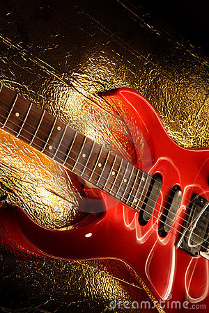 Abstract guitar music theme