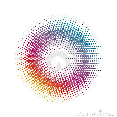 Free Abstract Halftone Circle Dots Pattern Background Stock Images - 22936624