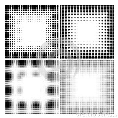 Abstract halftone dots for grunge background