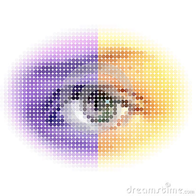 Abstract halftone eye