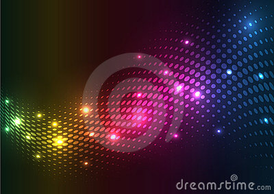Abstract halftone lights.  background