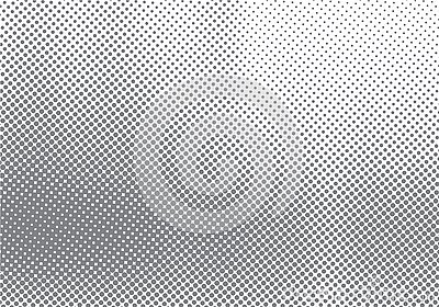 Abstract halftone motion effect with fading dot gradation black and white background and texture Vector Illustration