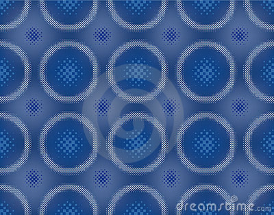 Abstract halftoned  seamless pattern