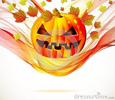 Abstract Halloween autumn background