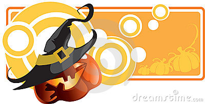 Abstract Halloween banner
