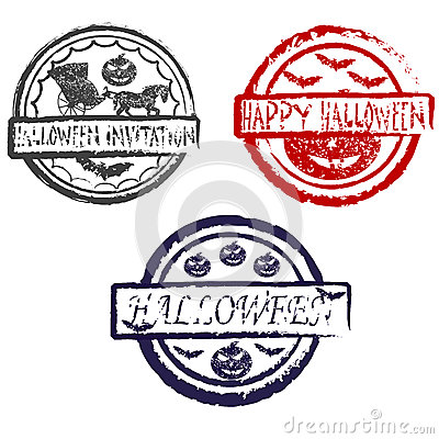 Abstract halloween grunge stamp