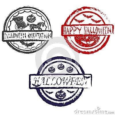 Abstract halloween grunge stamp