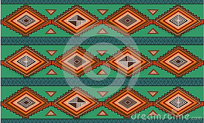 Abstract hand-drawn ethno pattern, tribal background. Pattern