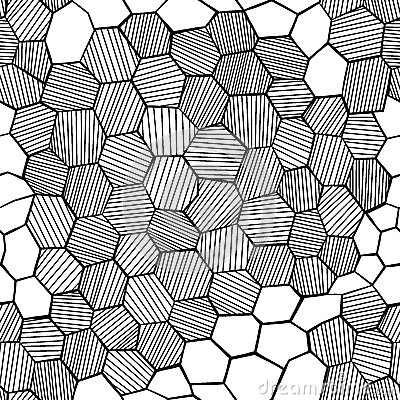 Abstract hand drawn honeycomb