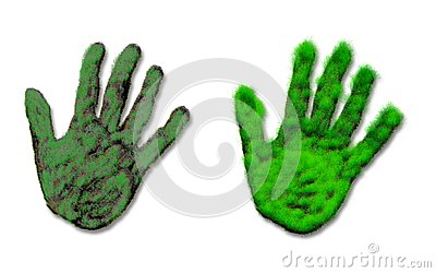 Abstract hand of grass