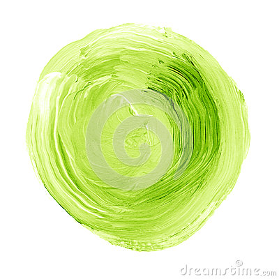 Free Abstract Hand Painted Acrylic Circle Texture In Green Color. Stock Photography - 95893932