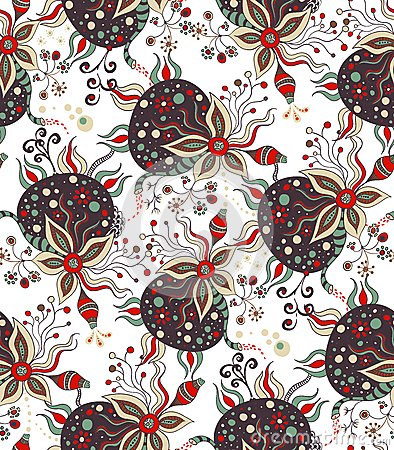 Abstract handdrawn pattern