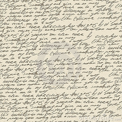 Abstract handwriting. Seamless pattern