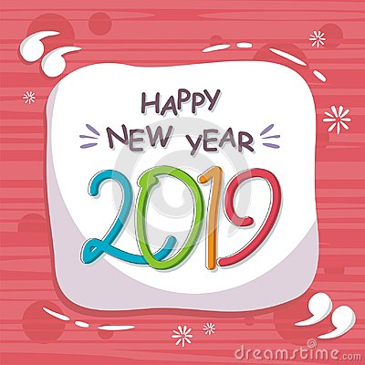 Free Abstract Happy New Year 2019 With Trendy Design Royalty Free Stock Image - 124050296