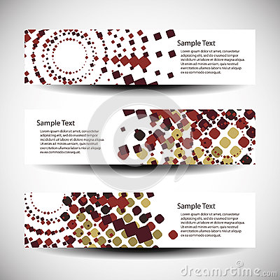Abstract header or banner designs