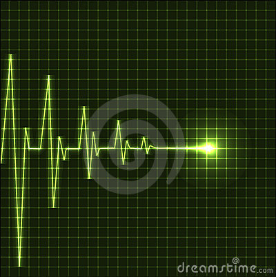 Free Abstract Heart Beats Cardiogram Royalty Free Stock Images - 20316259