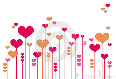 Abstract heart flowers
