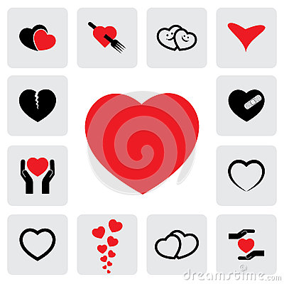 Abstract heart icons(signs) for healing, love, happiness