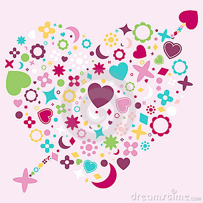 Abstract Heart Shape