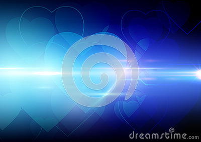 Abstract heart shape background Vector Illustration