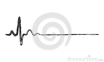 Abstract heartbeat icon. Vector illustration. Cartoon Illustration