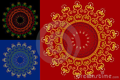Abstract henna blocks background