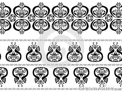 Abstract henna borders
