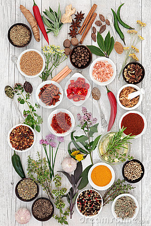 Free Abstract Herb And Spice Background Royalty Free Stock Photos - 66557648