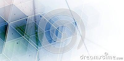 Abstract hexagon background. Technology polygonal design. Digita Vector Illustration