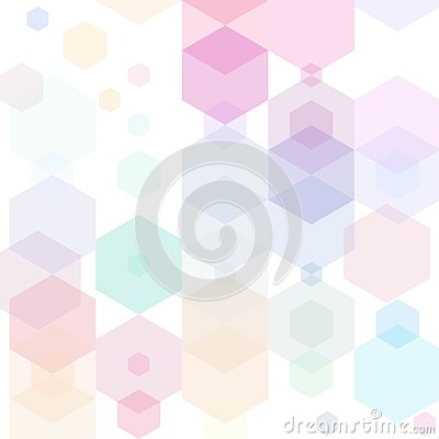 Abstract Hexagon Colorful Background. Vector illustration eps10 Stock Photo