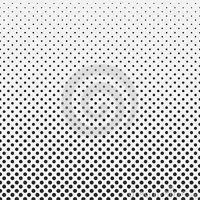 Abstract hexagon halftone pattern background black and white Vector Illustration