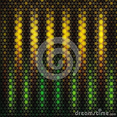 Abstract hexagon lights