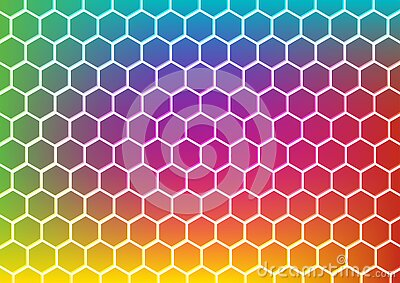 Abstract hexagon pattern for background design. Vector Illustration