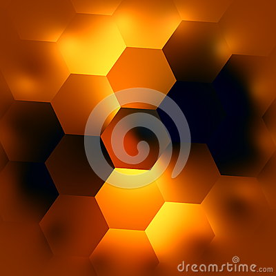 Free Abstract Hexagonal Background. Glowing Light Effect. Beautiful Modern Backgrounds. Soft Hexagon Mosaic. Creative Black Backdrop. Royalty Free Stock Image - 52651506