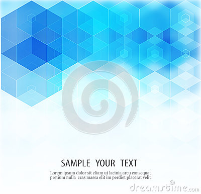 Abstract Hexagonal Background. Vector. Template design for science or technology presentation Vector Illustration