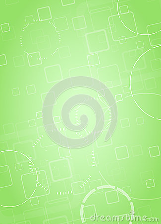 Abstract hi-tech green background. Vector