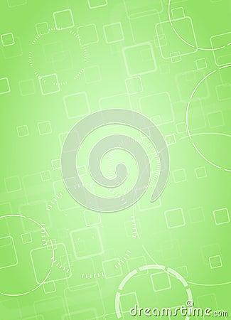 Abstract hi-tech green background. Vector