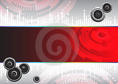 Abstract Hi-tech music background