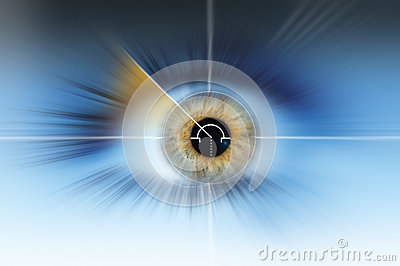 Abstract high tech eye background