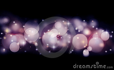 Abstract holiday background of glowing lights