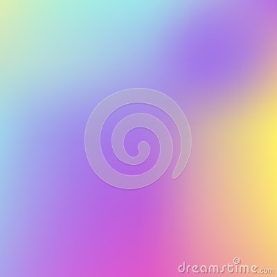 Abstract Holographic Background in pastel neon color design. Blurred wallpaper. Vector illustration for your modern Vector Illustration