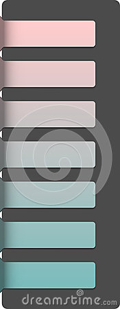 Abstract horizontal banners template