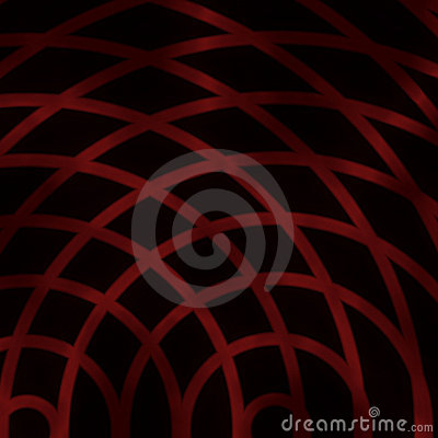 Abstract hot red reticulum grid